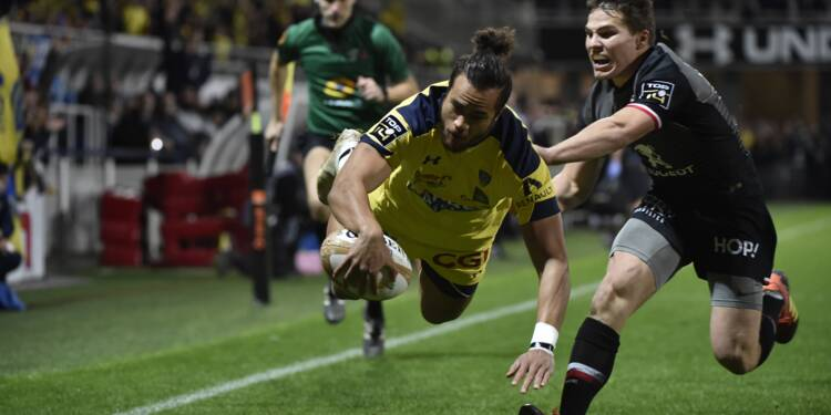 Top 14: Toulouse tient en échec Clermont sur le fil