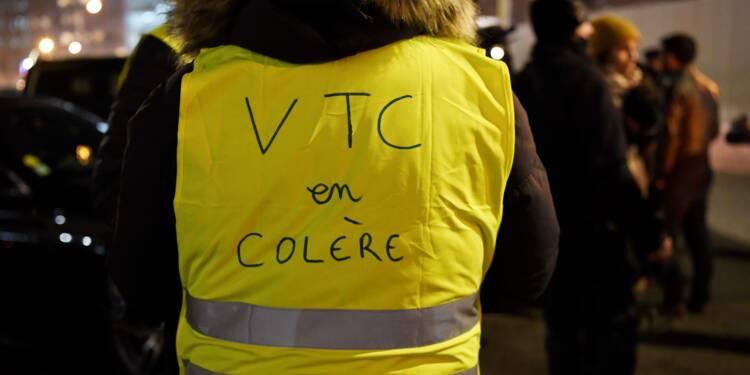 Manifestation de chauffeurs VTC à Paris pour un tarif minimum