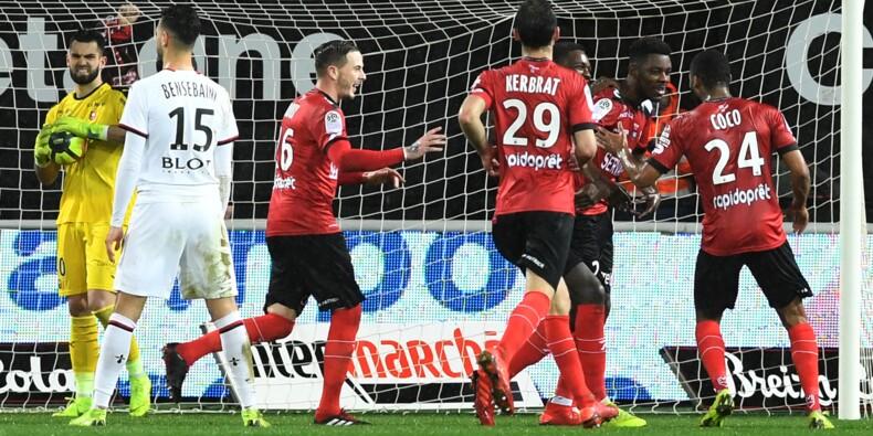 Matches en retard L1: première pour Guingamp, galère pour Marseille