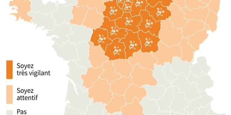 """24 départements en vigilance orange neige, sept activent le plan """"grand froid"""""""