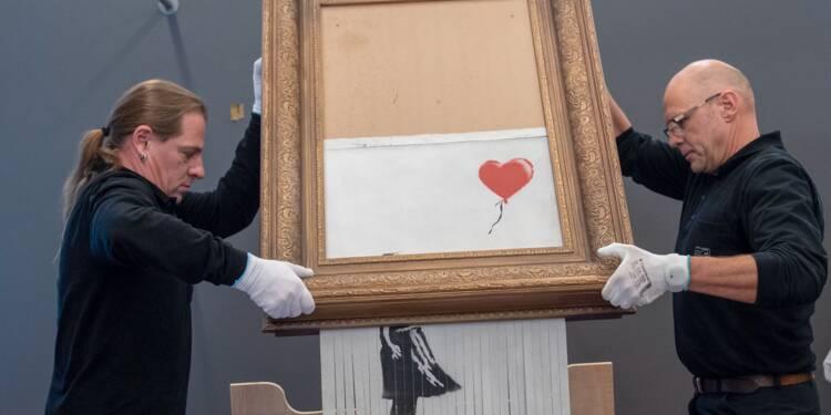 """Allemagne: grande première pour la toile lacérée """"méga cool"""" de Banksy"""