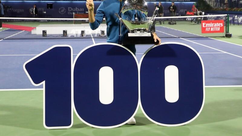 Dubaï: Roger Federer, un 100e trophée pour le Maître