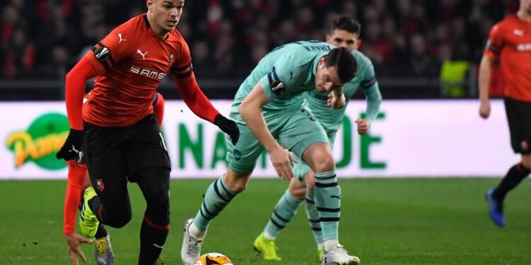 Ligue Europa: Rennes terrasse Arsenal et peut rêver