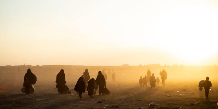 Effarement face au nombre de personnes dans le réduit de l'EI en Syrie