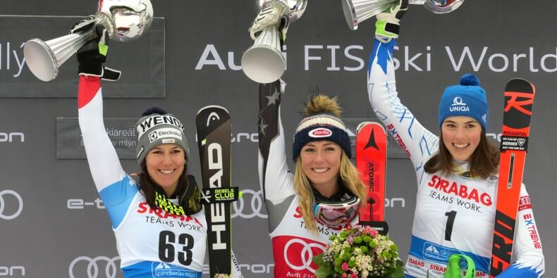 Ski alpin: nouveau record pour Shiffrin, victorieuse du slalom de Spindleruv Mlyn