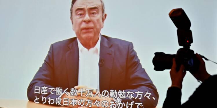 """Ghosn se dit """"innocent"""" et accuse des dirigeants de Nissan de """"trahison"""""""