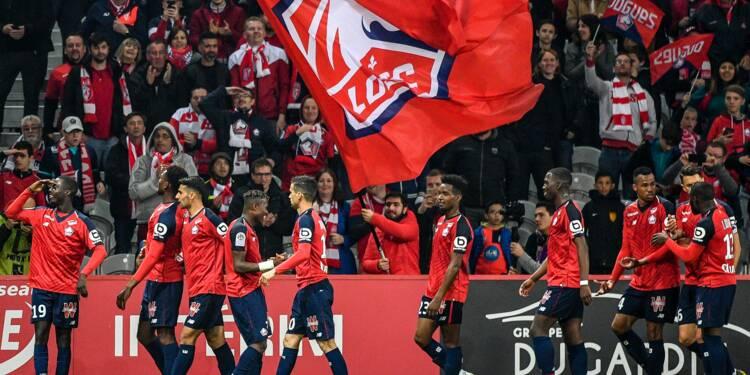 L1: Lille conforte sa deuxième place en écrasant Nîmes 5-0