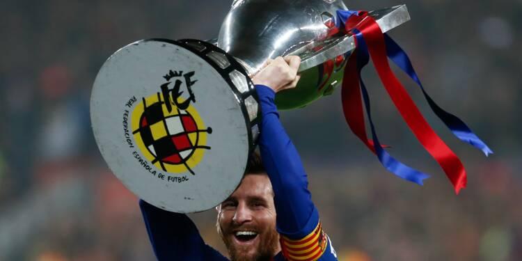 Espagne: le Barça de Messi gagne la Liga et règne sans partage