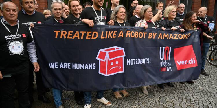 Réunis à Berlin, les syndicats d'Amazon veulent coordonner leur lutte
