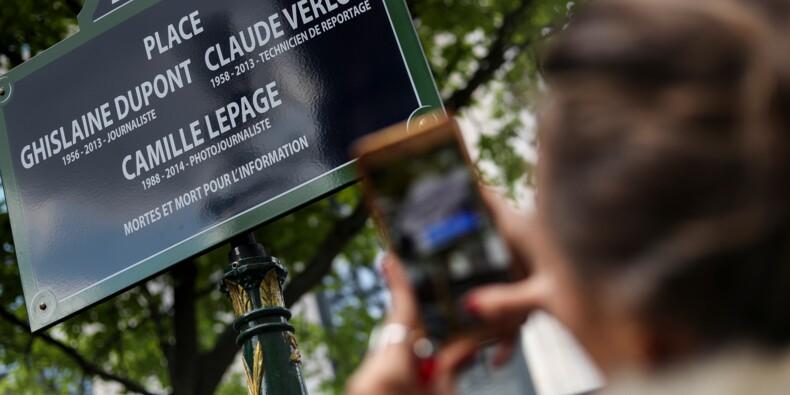 Une place inaugurée à Paris en hommage à trois journalistes tués
