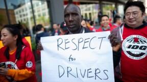 Des chauffeurs VTC manifestent à New York pour une meilleure rémunération