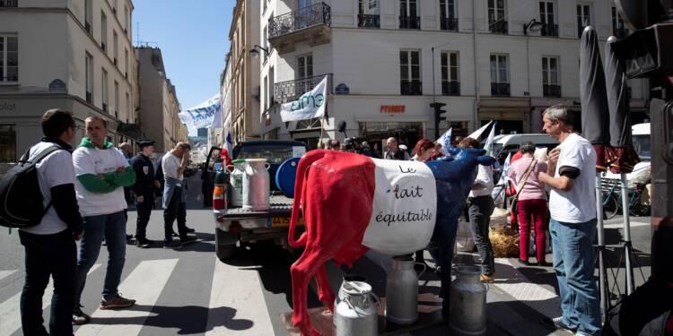 Des agriculteurs mobilisés à Paris pour demander une juste rémunération