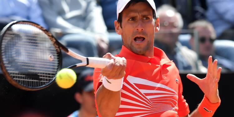 Tennis: Djokovic, Nadal et Federer sans souci en 8es à Rome, Thiem éliminé
