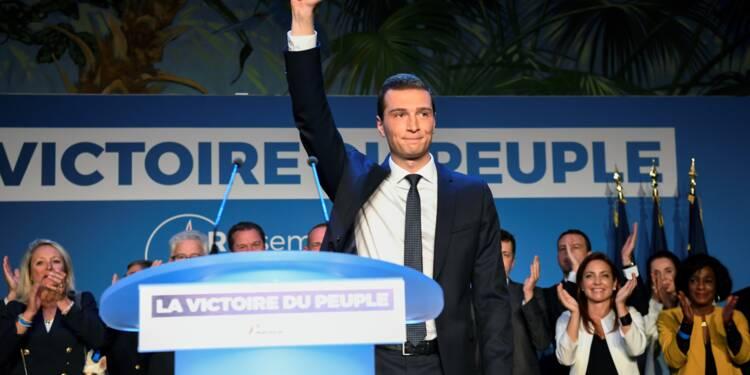 Européennes: le RN de Marine Le Pen devance la liste Macron