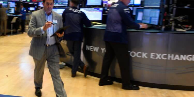 Wall Street dans le rouge, les taux reculent encore
