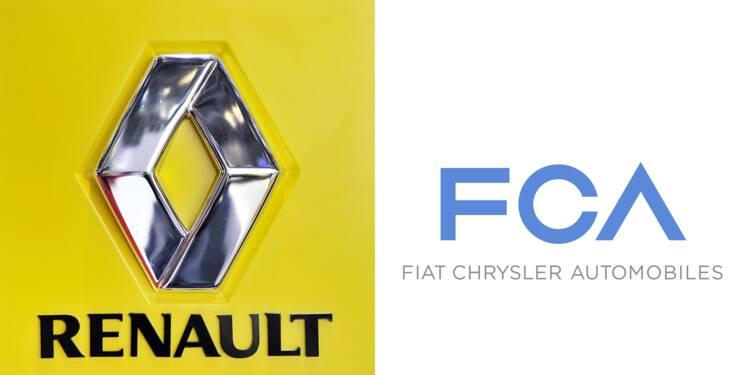 Renault chute de près de 7% après le retrait de l'offre de Fiat Chrysler