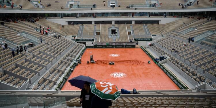Roland-Garros: la pluie gâche la fête