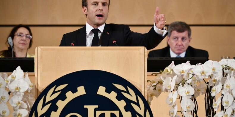 """Macron dénonce à l'OIT les dérives d'un """"capitalisme fou"""""""
