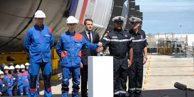 Macron lance officiellement le nouveau sous-marin nucléaire français