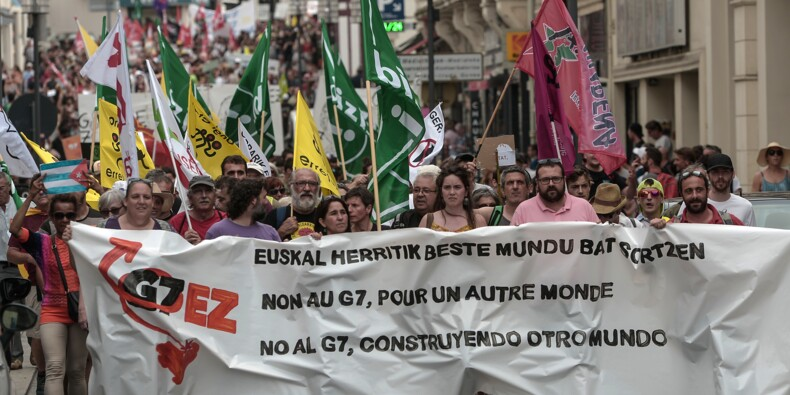 """Des anti-G7 attendus pour un """"contre-sommet"""" à la frontière franco-espagnole"""