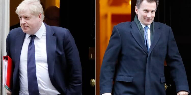 Boris Johnson, Jeremy Hunt, deux conservateurs prêts à un Brexit sans accord