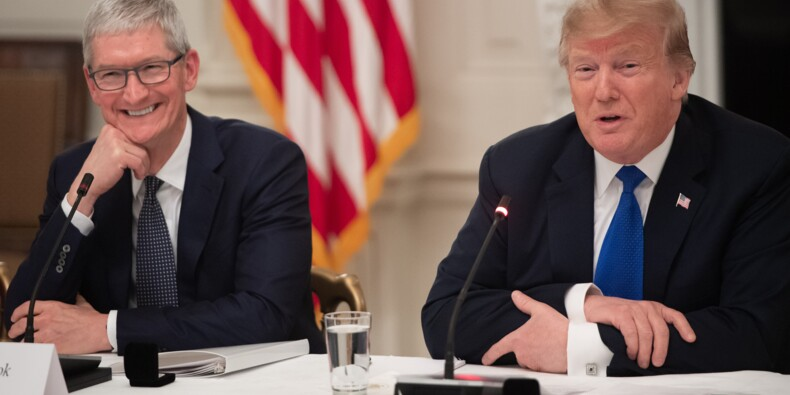 Trump évoque de gros investissements d'Apple aux Etats-Unis