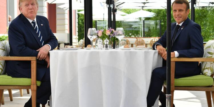 "Déjeuner ""improvisé"" Macron-Trump avant le sommet du G7"