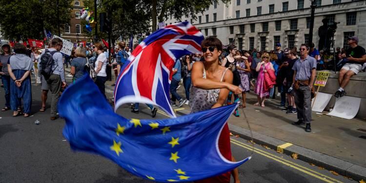 """Brexit: des Britanniques manifestent contre le """"coup d'Etat"""" de Boris Johnson"""