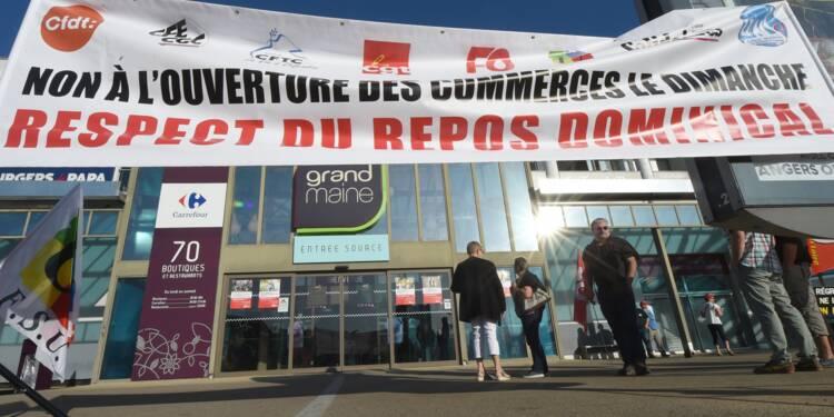 Angers: manifestation contre l'ouverture d'un hypermarché  le dimanche