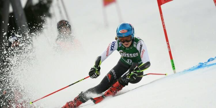 Ski: Shiffrin prend ses distances après la 1re manche du slalom de Semmering