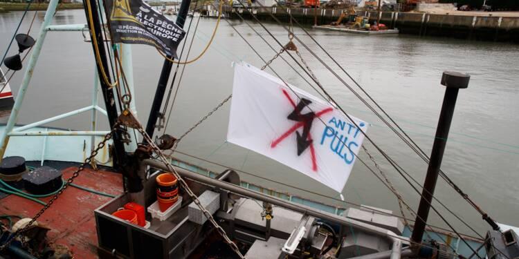 Action de pêcheurs à Boulogne-sur-mer pour protester contre la pêche électrique