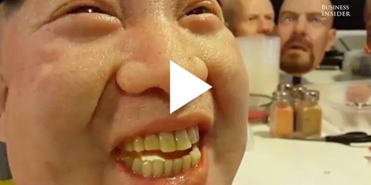 VIDEO: Ces masques en silicone sont tellement réalistes au point d'en être effrayants