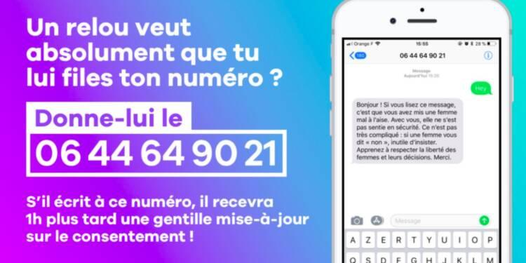Il y a désormais un numéro de portable français que les femmes peuvent donner aux hommes qui les harcèlent