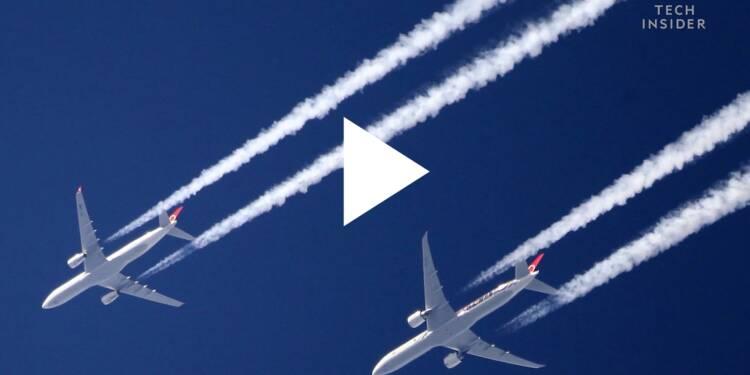 VIDEO: Les traînées blanches laissées par les avions dans le ciel peuvent vous aider à prédire le temps — voici comment