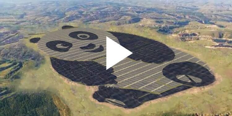 VIDEO: Ce champ photovoltaïque ressemble à un panda vu du ciel — une entreprise chinoise souhaite en bâtir une centaine à travers le monde