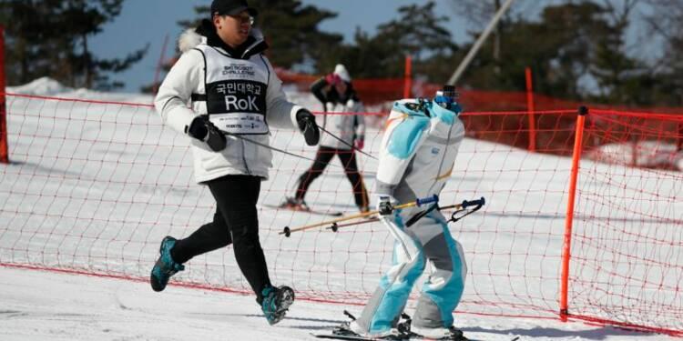 Des robots skieurs se sont affrontés pendant les JO de Corée du sud — et cela montre combien il est difficile pour une machine d'éviter un obstacle