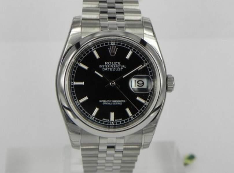 Rolex, modèle Datejust 36mm Nero indici Jubilee