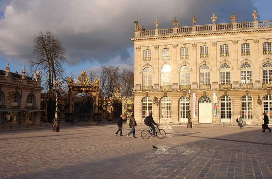 Les places Stanislas, de la Carrière et d'Alliance à Nancy