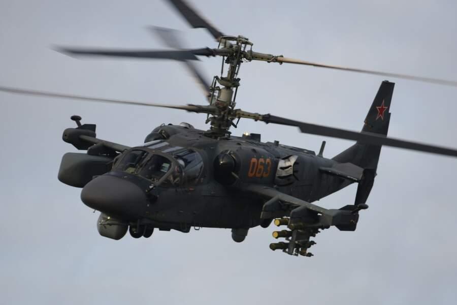 L'hélicoptère russe KA-52 Alligator