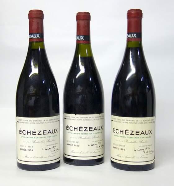 Echezeaux, grand cru du domaine de la Romanée-Conti, 1990, (3 bouteilles)