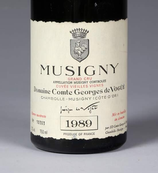"""Musigny """"Vieilles vignes"""", grand cru comte de Vogüé, 1989 (3 bouteilles)"""
