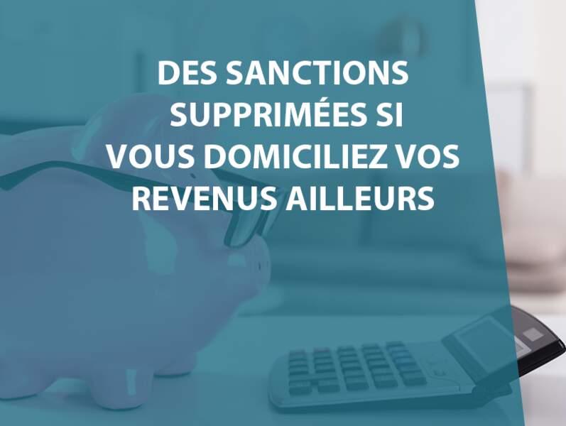 Les sanctions pour non-respect des clauses de domiciliation supprimées