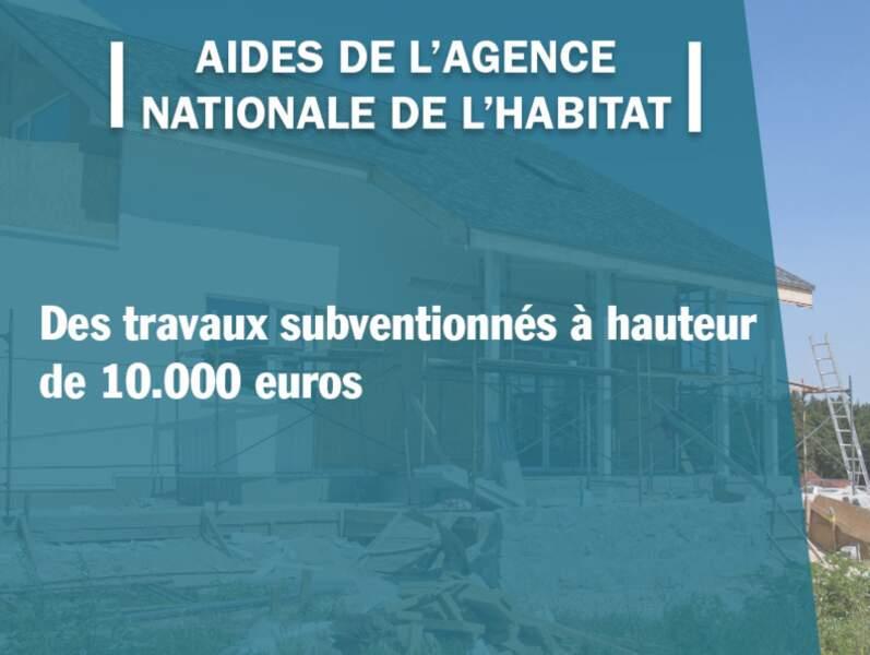 Aides de l'Agence nationale de l'habitat