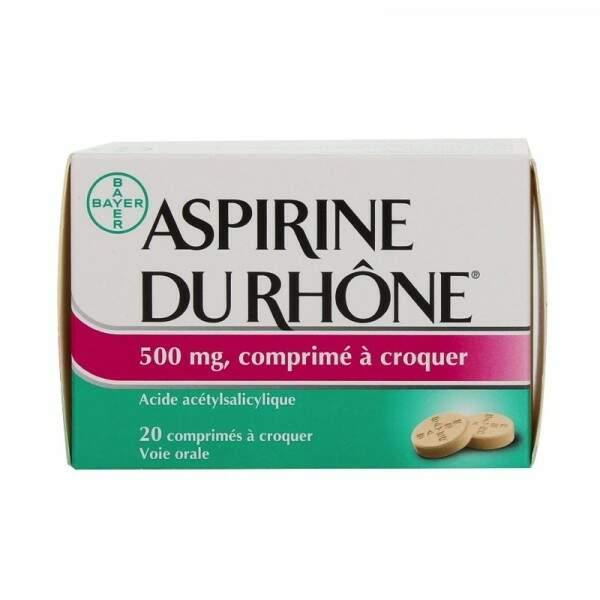 À éviter : Aspirine du Rhône 500 Mg, 20 comprimés à croquer