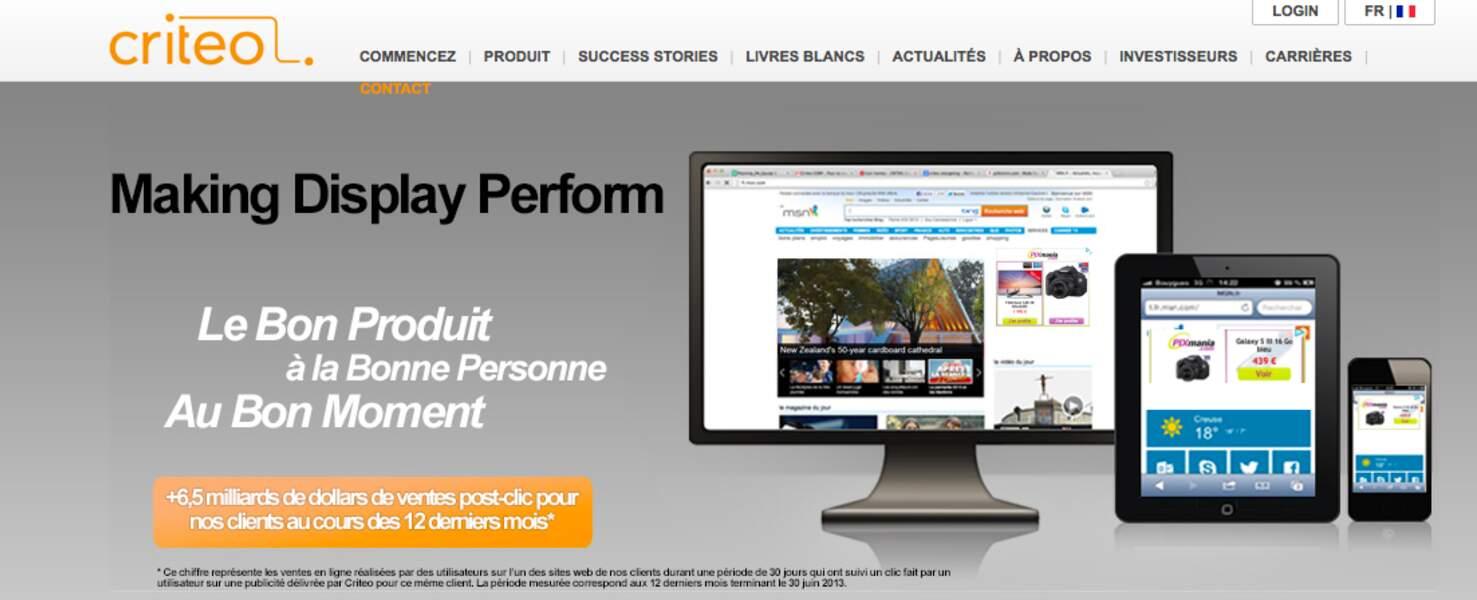 Critéo (publicité) : les bannières ciblées sur le Net, c'est lui