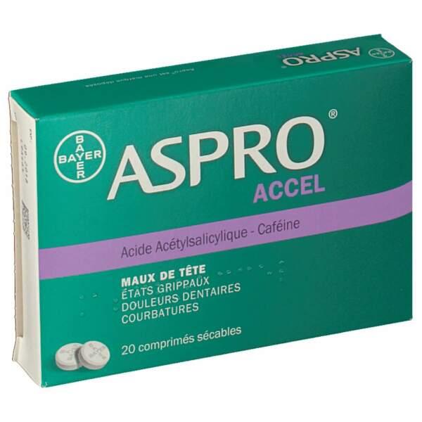 À éviter : Aspro caféine, 20 comprimés sécables