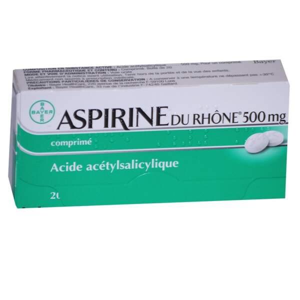 À éviter : Aspirine du Rhône 500 Mg, 20 comprimés