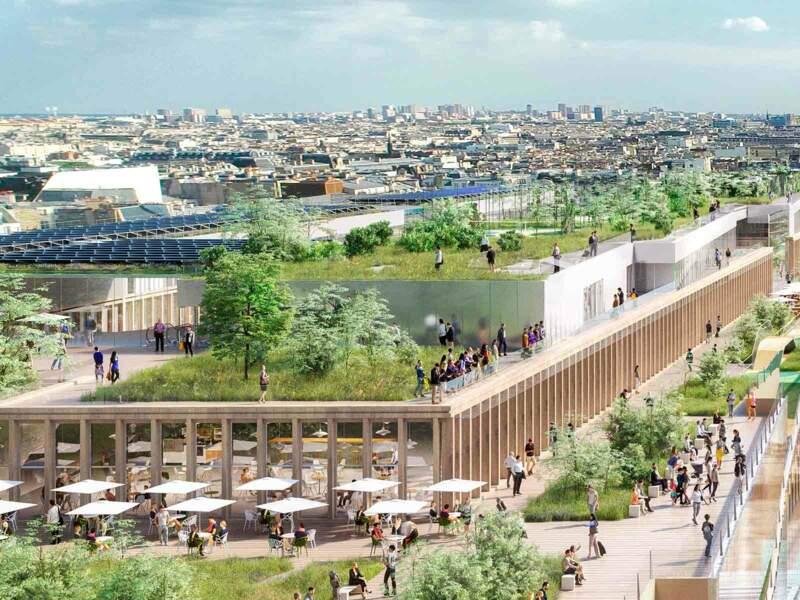 Un jardin avec vue imprenable sur Montmartre