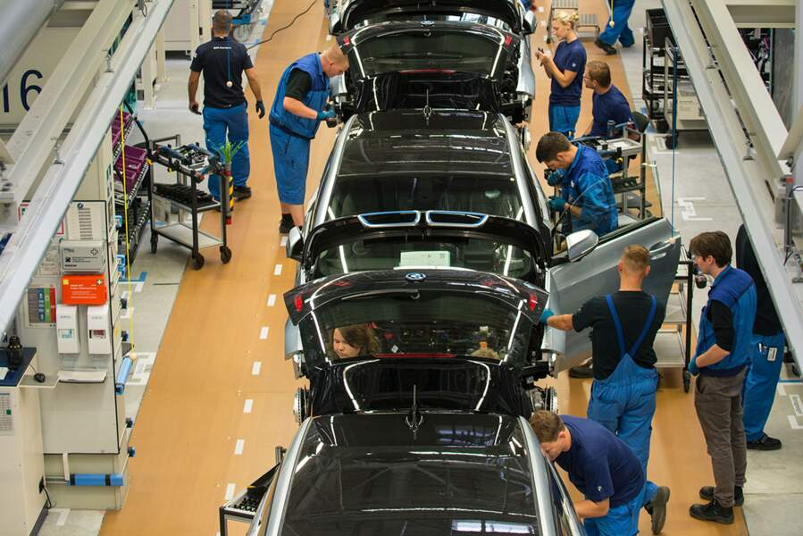 Ligne de production de la BMW I3