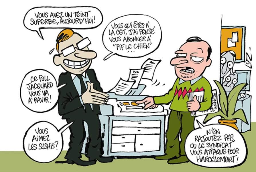 Caricature de Luz à paraître dans le prochain Management, le 22 janvier